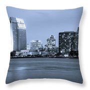 San Diego At Night Throw Pillow