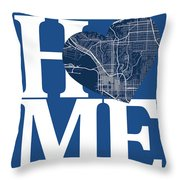 San Diego Street Map Home Heart - San Diego California Road Map  Throw Pillow
