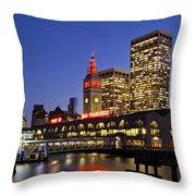 San Francisco Ferry Terminal - California, Usa Throw Pillow