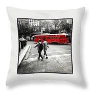 San Francisco Tram Throw Pillow