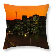 San Franscisco Ca Throw Pillow
