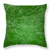 San Jose Street Map - San Jose Costa Rica Road Map Art On Colore Throw Pillow
