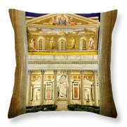 San Paolo Fuori Le Mura Throw Pillow