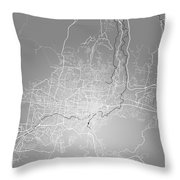 San Salvador Street Map - San Salvador El Salvador Road Map Art  Throw Pillow