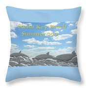 Sand Dolphins Throw Pillow