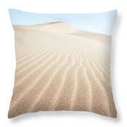 Sand Dunes In The Desert At Sunrise Dunhuang China Throw Pillow
