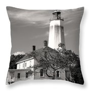 Sandy's Mark Bw Throw Pillow