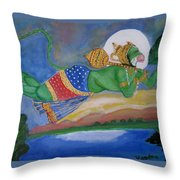 Sanjivani Hanuman Throw Pillow
