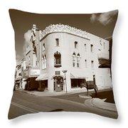 Santa Fe Street Scene Throw Pillow