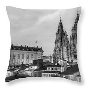 Santiago De Compostela Cathedral Galicia Spain Throw Pillow