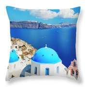 Santorini Island, Greece, Beautiful Throw Pillow