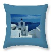 Santorini  Island Greece  Throw Pillow
