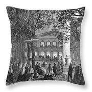 Saratoga Springs, 1865 Throw Pillow