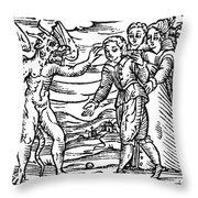 Satan & Sorcerer, 1626 Throw Pillow