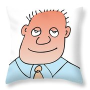 Satisfied Throw Pillow by Michal Boubin