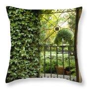 Savannah Gate Impasto Throw Pillow