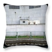 Scene From A Train In Chinas Southern Throw Pillow