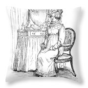 Scene From Pride And Prejudice By Jane Austen Throw Pillow