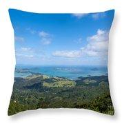 Scenic Coromandel Peninsula Nz Coastline Seascape Throw Pillow