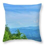 Scenic View Of Mountain Range Throw Pillow