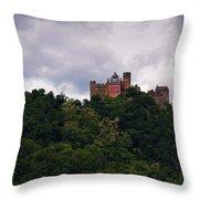 Schonburg Oberwesel Am Rhein Throw Pillow