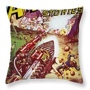 Sci-fi Magazine Cover 1941 Throw Pillow