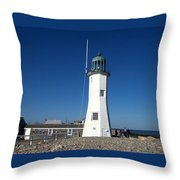Scituate Lighthouse Throw Pillow