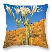 Sea Daffodil Throw Pillow