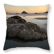 Sea Stacks At Sunset Throw Pillow