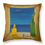 Sea View Two Throw Pillow