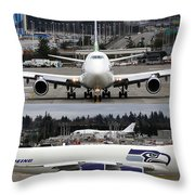 Seahawks 747 Throw Pillow