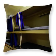 Seaman Lockers And Bunks Aboard Uss Throw Pillow