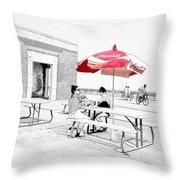 Seaside Sketch Throw Pillow