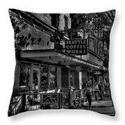 Seattle Coffee Works Throw Pillow