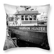 Seattle Fisherman Wharf Throw Pillow