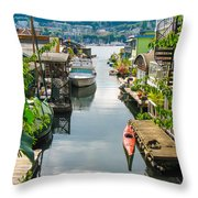Seattle Houseboats Throw Pillow