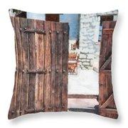 Secret Courtyard Throw Pillow