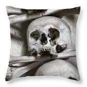 Sedlec Ossuary - Charnel-house Throw Pillow