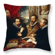 Selfportrait With Brother Philipp Justus Lipsius And Another Scholar Throw Pillow