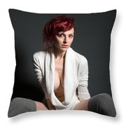 Semi-nude Portrait Throw Pillow