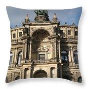 Semper Opera Dresden Germany Throw Pillow