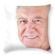 Senior Citizen Man Throw Pillow