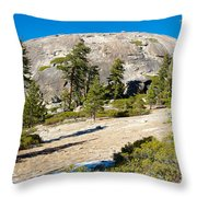 Sentinel Dome From Sentinel Dome Trail In Yosemite Np-ca  Throw Pillow