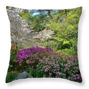 Serene Garden Throw Pillow