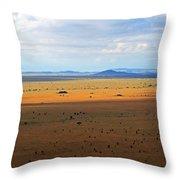 Serengeti Landscape Throw Pillow