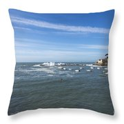 Sestri Levante With The Sea Throw Pillow