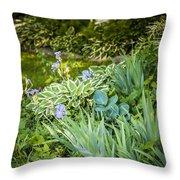 Shady Garden Throw Pillow