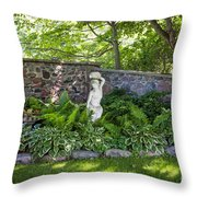 Shady Perennial Garden Throw Pillow