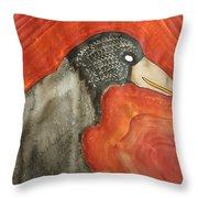 Shaman Original Painting Throw Pillow by Sol Luckman