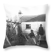 Sharecropper Family, 1900 Throw Pillow